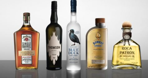 Alcohol-Lineup-Bombay-Sapphire-Blue-Duck-Jim-Beam-Patron-Thomson