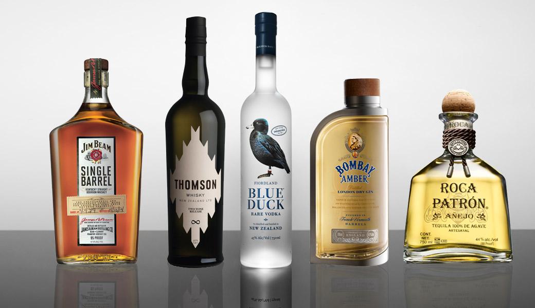 Alcohol-Lineup-Bombay-Sapphire-Blue-Duck-Jim-Beam-Patron-Thomson