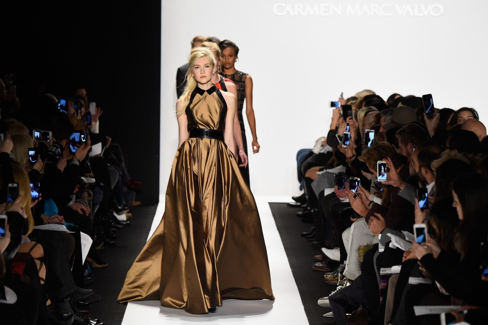 Carmen Marc Valvo Runway Mercedes Benz Fashion Week Fall 2015 M2now Header wide shot