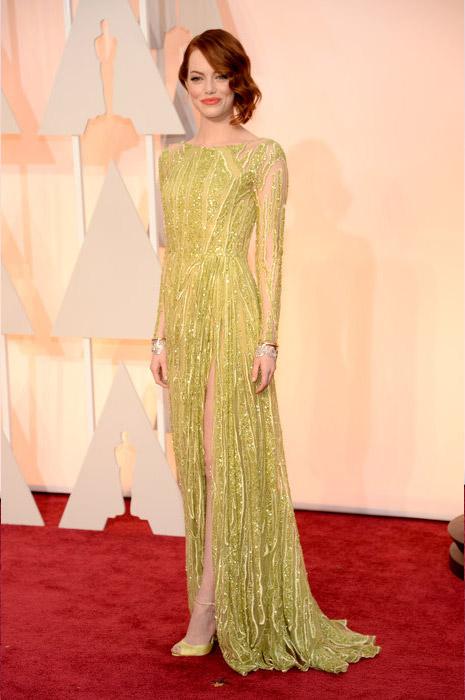 Emma Stone wearing Elie Saab
