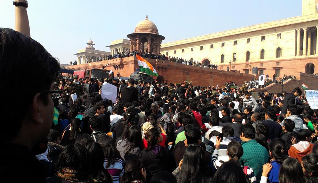 Protests at Raisina Hill, Rajpath, New Delhi