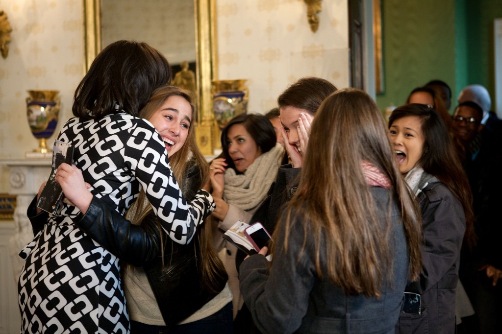 Michelle obama hug selfoe