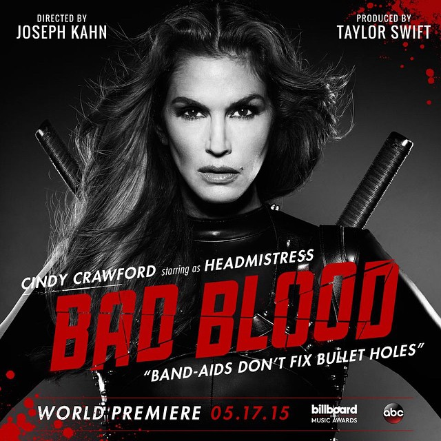 cindy crawford Taylor Swift Bad Blood