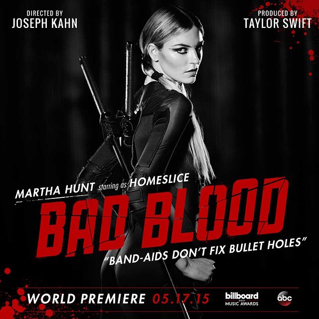 martha hunt Taylor Swift Bad Blood