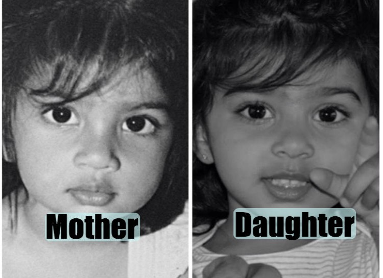 Pictures of their kids at the same age (1)