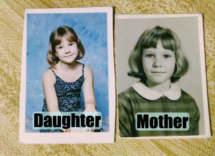 Pictures of their kids at the same age (10)
