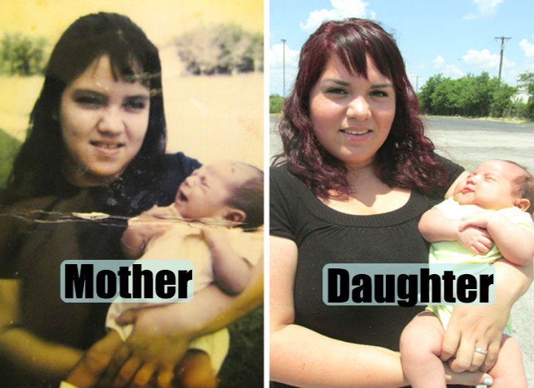 Pictures of their kids at the same age (11)