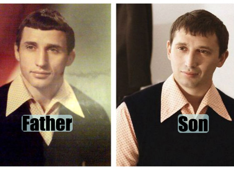Pictures of their kids at the same age (12)