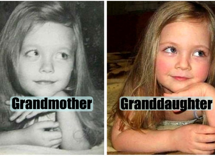 Pictures of their kids at the same age (13)