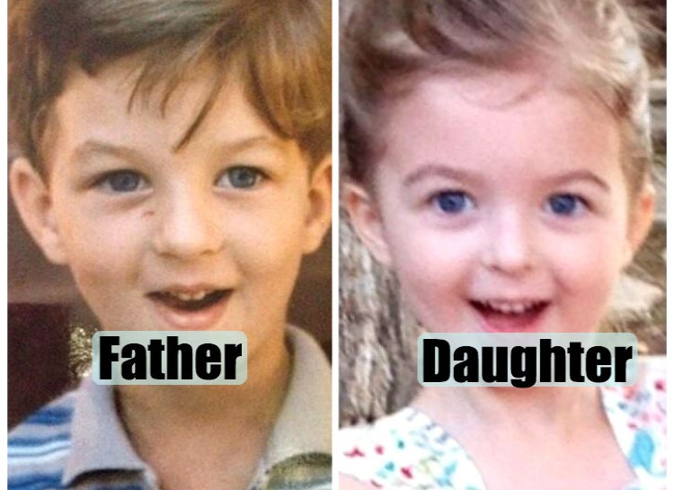 Pictures of their kids at the same age (2)
