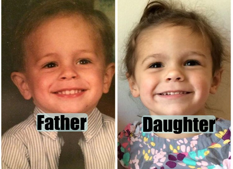 Pictures of their kids at the same age (3)