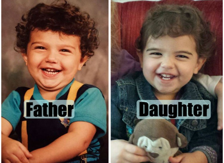 Pictures of their kids at the same age (6)