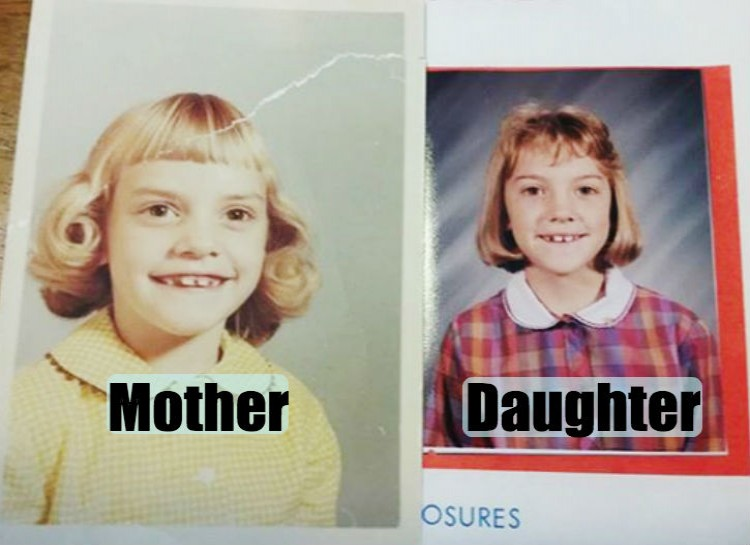 Pictures of their kids at the same age (7)