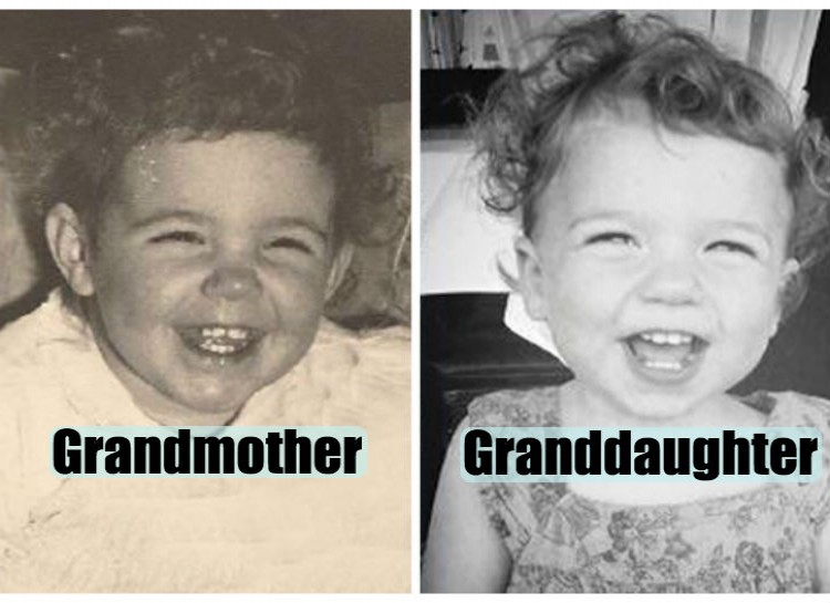 Pictures of their kids at the same age (9)