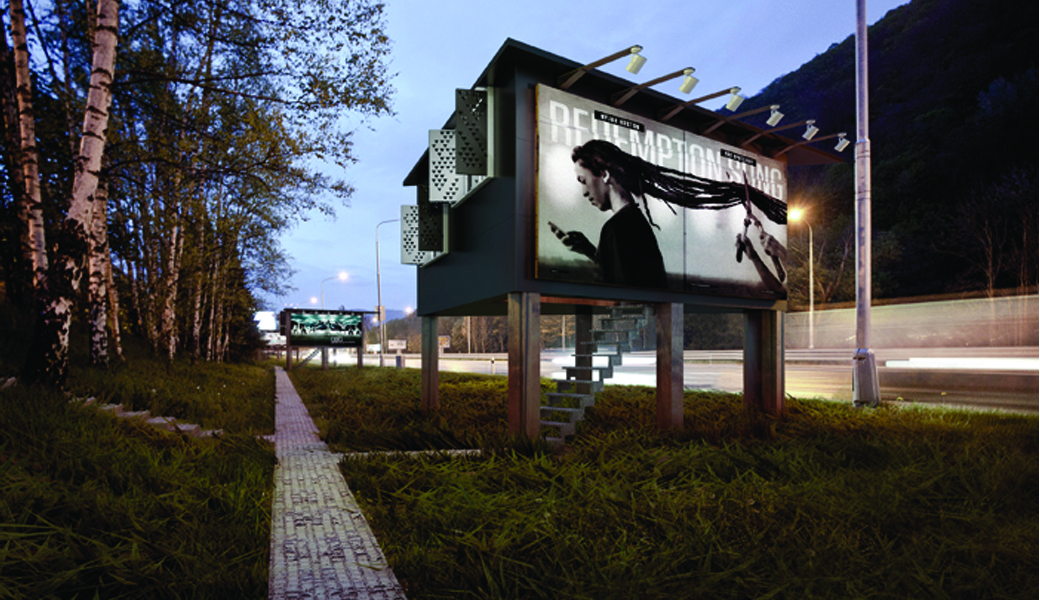 billboard house