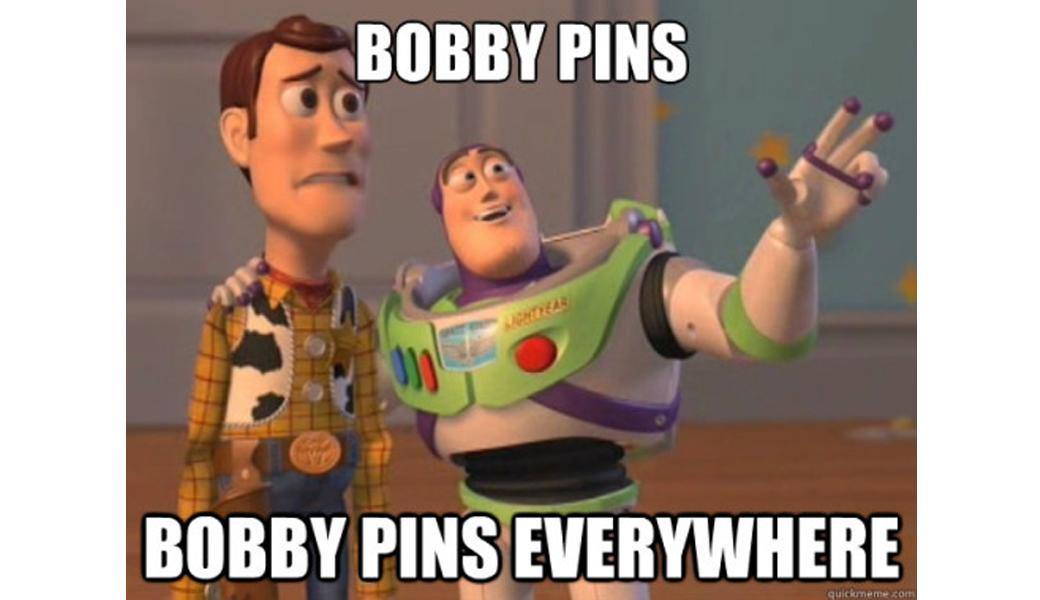 bobby pins everywhere