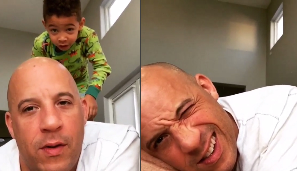 Vin Diesel\'s 5-Year-Old Son Takes a Private Jet to His First B-Ball Game