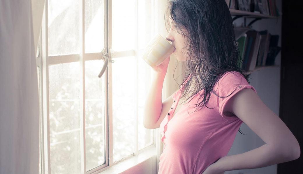 Drinking-tea-morning