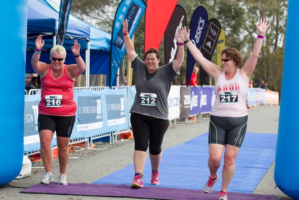 STS Chch - First Timer Women Finish 3