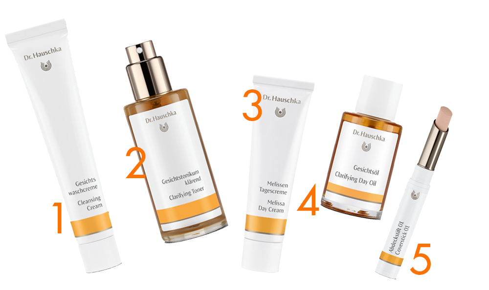 1. Cleansing Cream 2. Clarifying Toner 3. Melissa Day Cream $55 4. Clarifying Day Oil $59 5. Coverstick $39