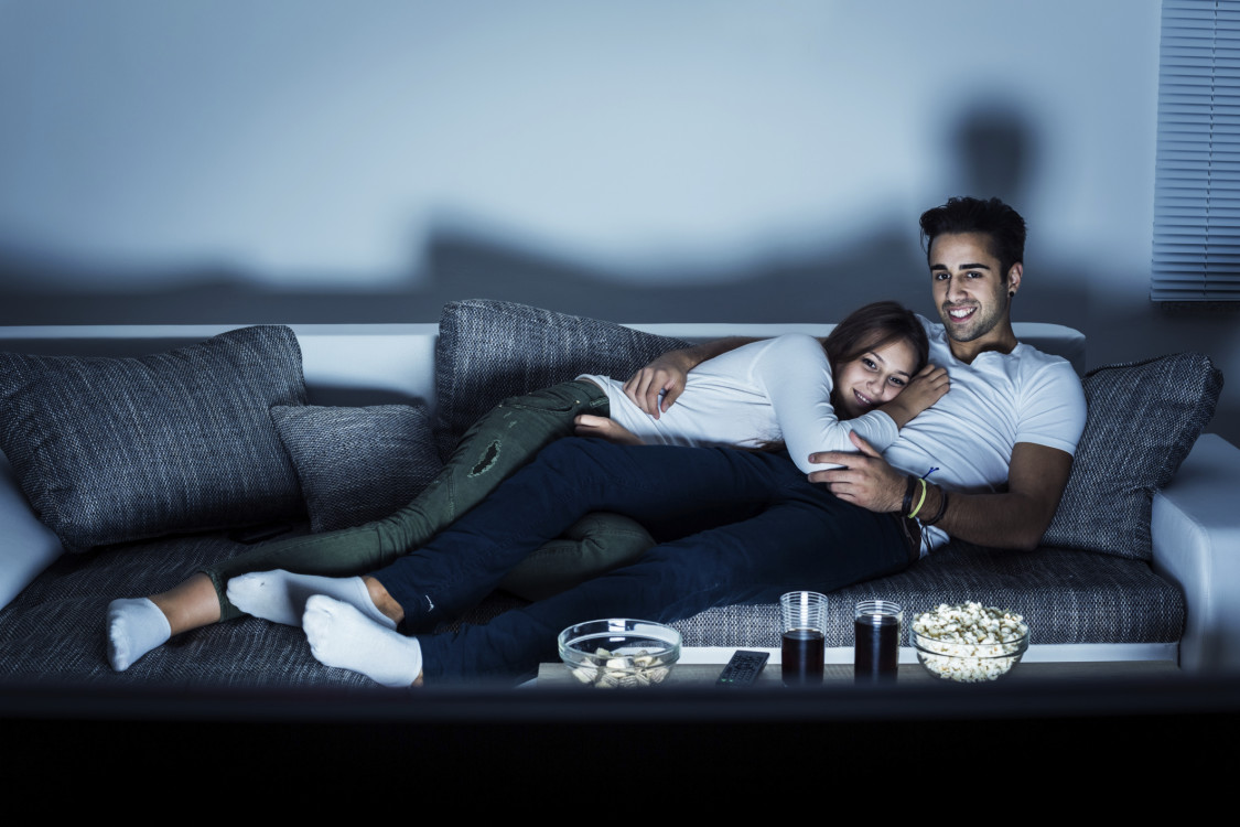 Watching TV Together Romantic