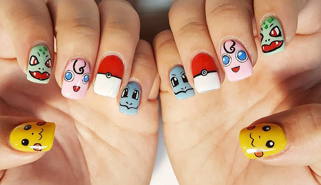 Pokémon Go inspired nail art is a thing and we are obsessed - Pokémon Go Inspired Nail Art Is A Thing And We Are Obsessed - M2woman