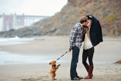 Engagement Photos in San Francisco, at Baker Beach.
