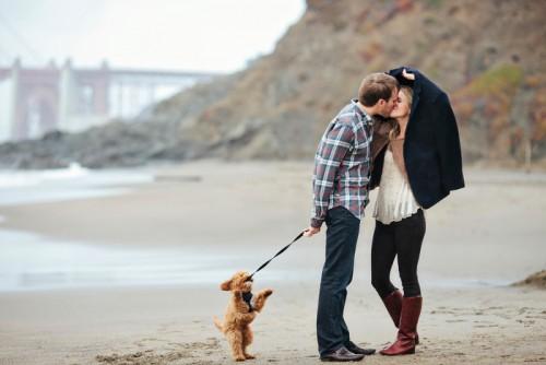 Engagement Photos in San Francisco, at Baker Beach.