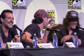 The Walking Dead's Andrew Lincoln Can't Stop Getting Glitter-Bombed