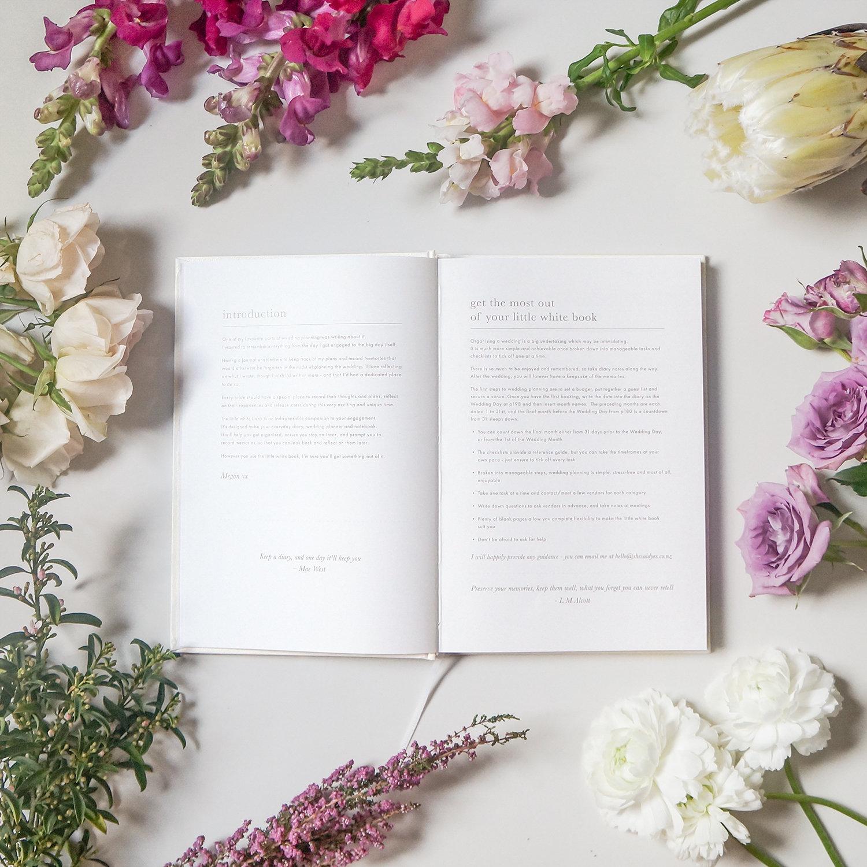 A - med - little white book wedding organiser diary