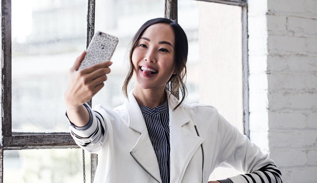 Asian girl selfie cute