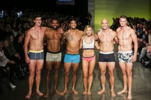 Matilda Rice and Rugby Sevens Hotties Strip Down To Their Underwear for NZFW