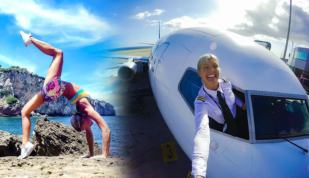Woman-Pilot-Yoga-Around-the-planet