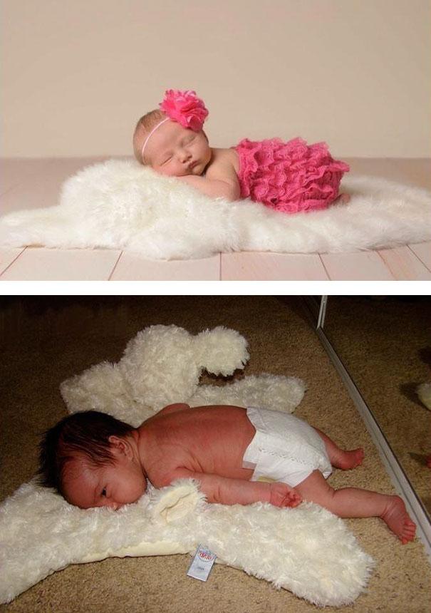 cute baby photos vs reality (11)