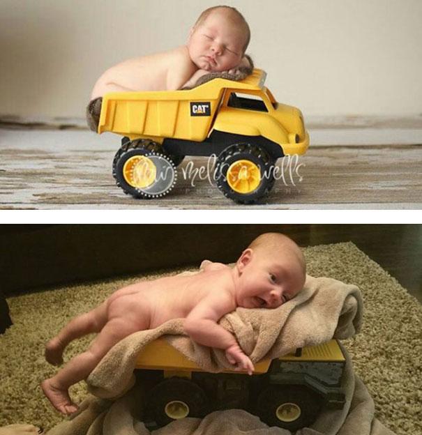 cute baby photos vs reality (12)