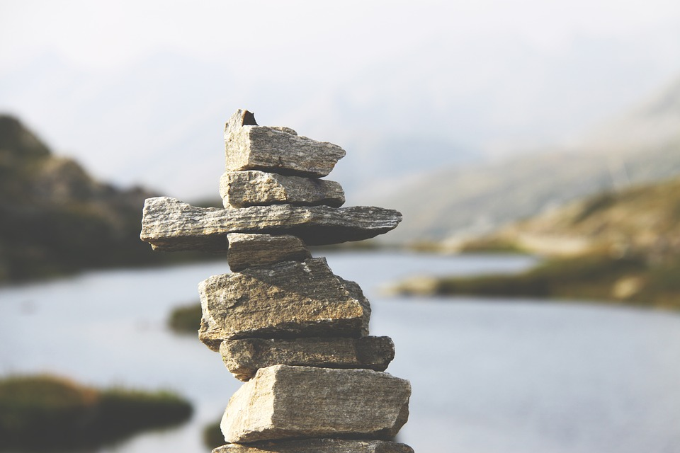 stacked rocks mindfulness