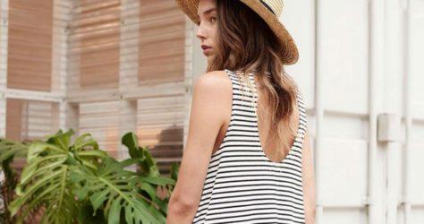striped-dress-straw-hat-m2woman