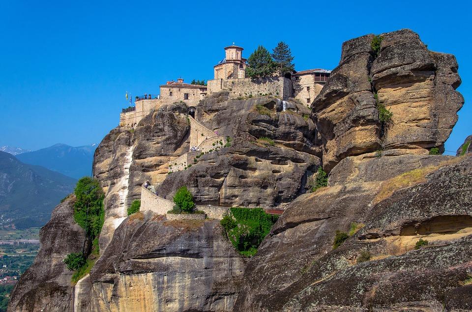 Monastery Mountains Religion Stones Travel