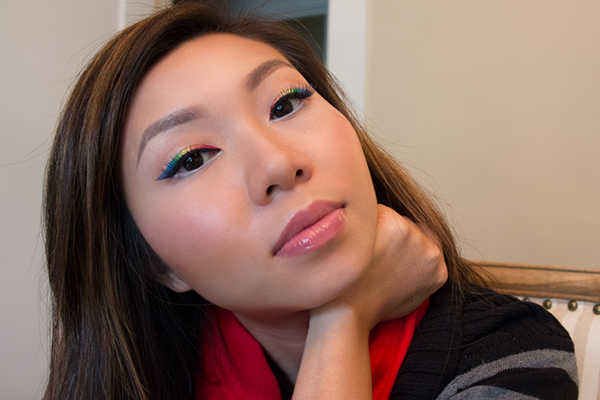 rainbow statement eyeliner