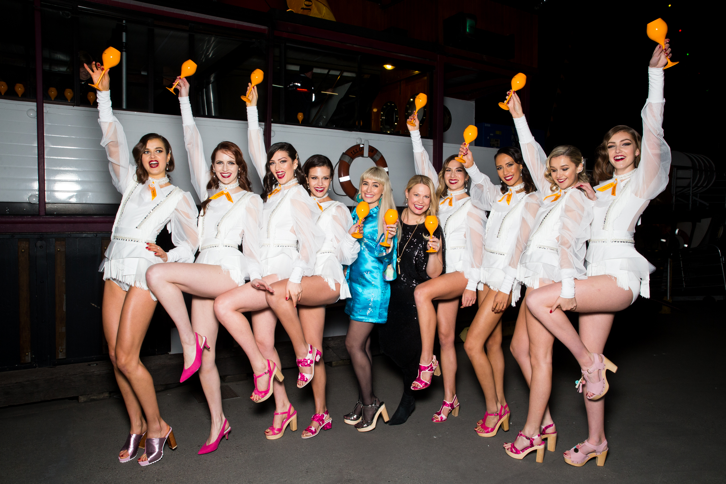 Clicquot in the Snow dancing girls cute