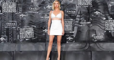 Charlize Theron Hot body sexy cute legs 2017 Atomic Blonde Premiere Berlin (8)
