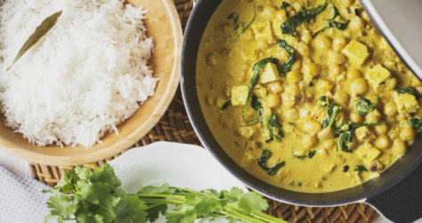 Chickpea, tofu and spinach curry Cocoon Cooks