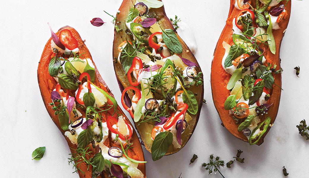 FULLY LOADED BAKED SWEET POTATO